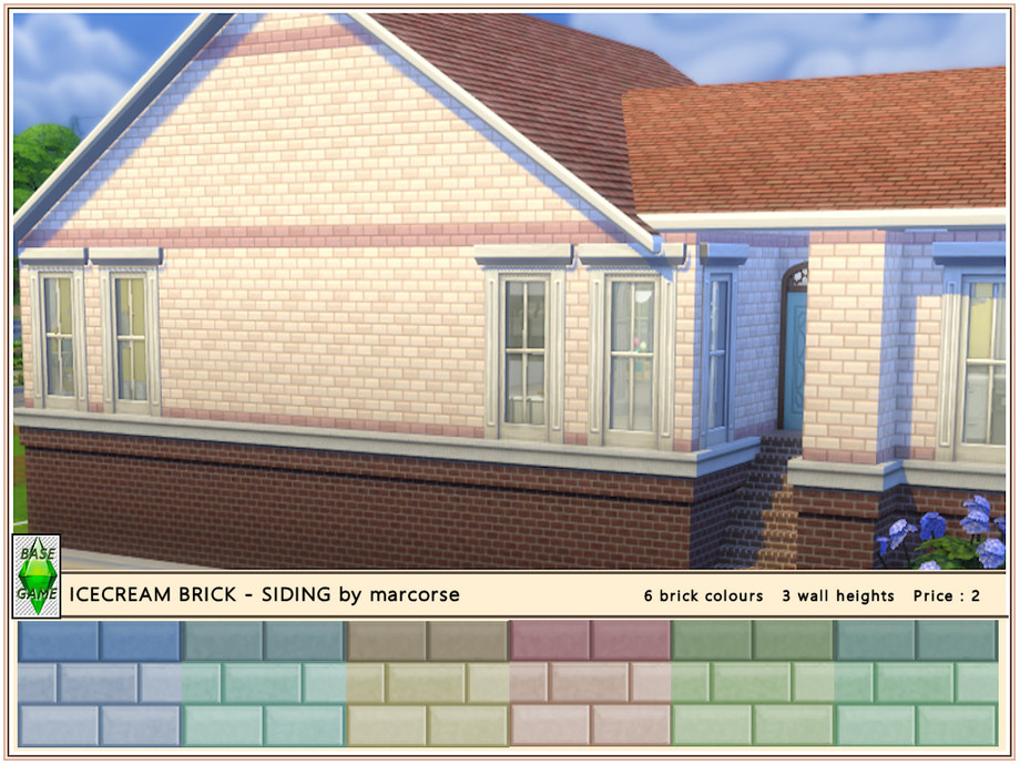 Icecream Brick Siding By Marcorse In 2020 Brick Siding Brick Brick Colors