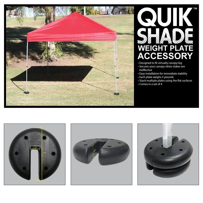Quik Shade Canopy Weight Plates 4 Set 147497 The Home Depot