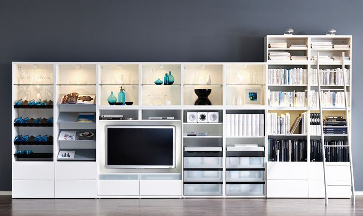 Ordinaire IKEA Living Room Design Ideas 2010 | DigsDigs LOVE This Wall Storage/tv  Unit!