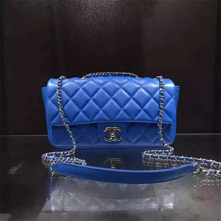 3eae1324c5c3 Chanel small Flap Bag Cruise 2016 blue