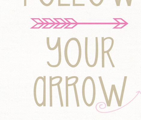Follow_Your_Arrow fabric by the_rural_rose on Spoonflower - custom fabric
