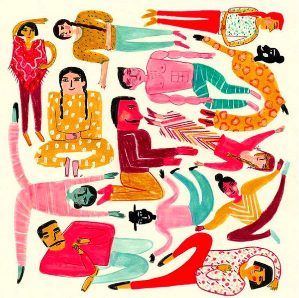 Maria Luque is a star at drawing colorful, quirky characters. More on the blog! http://www.artisticmoods.com/maria-luque-2/