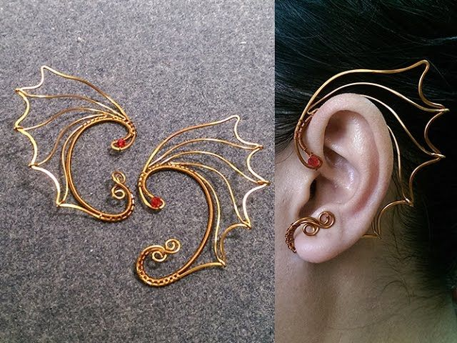 Dragon wings earcuff - Wire wrapping jewelry tutorial 242