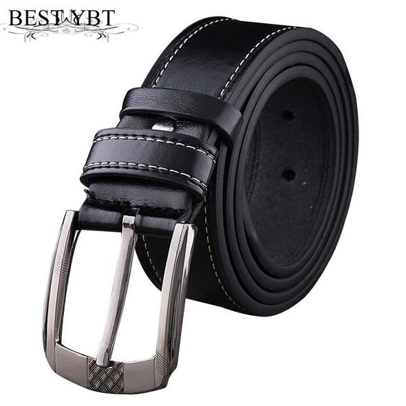 e852b80c1c51 Best YBT men Leather belt Alloy Pin buckle brand Belt fashion student youth  men belt casual male vintage jeans ceinture belt
