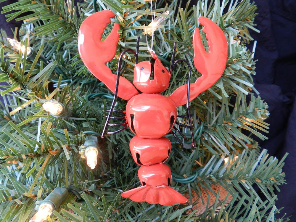 Jingle Bell Lobster Christmas ornament This lobster Christmas