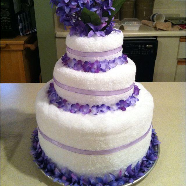Towel Cake for a Wedding Shower
