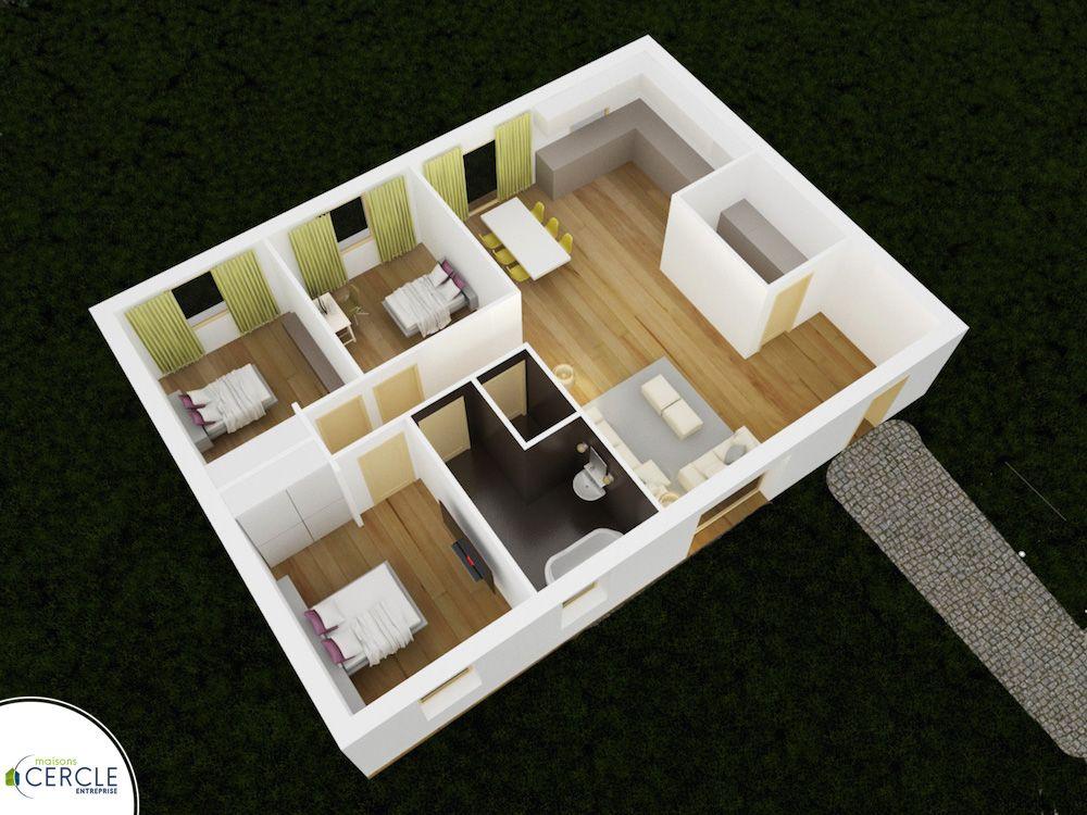 Design 86 - maison low-cost plan maison Pinterest - construire sa maison 3d