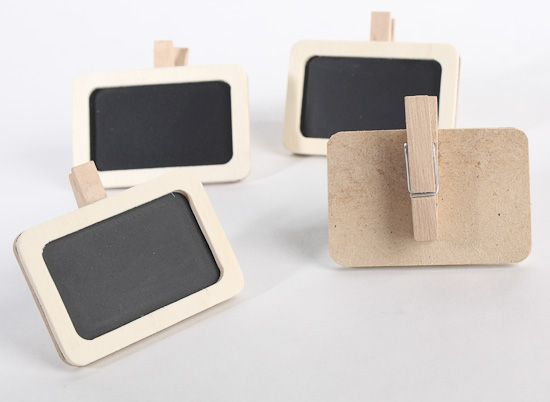 Mini Chalkboards with Clothespins