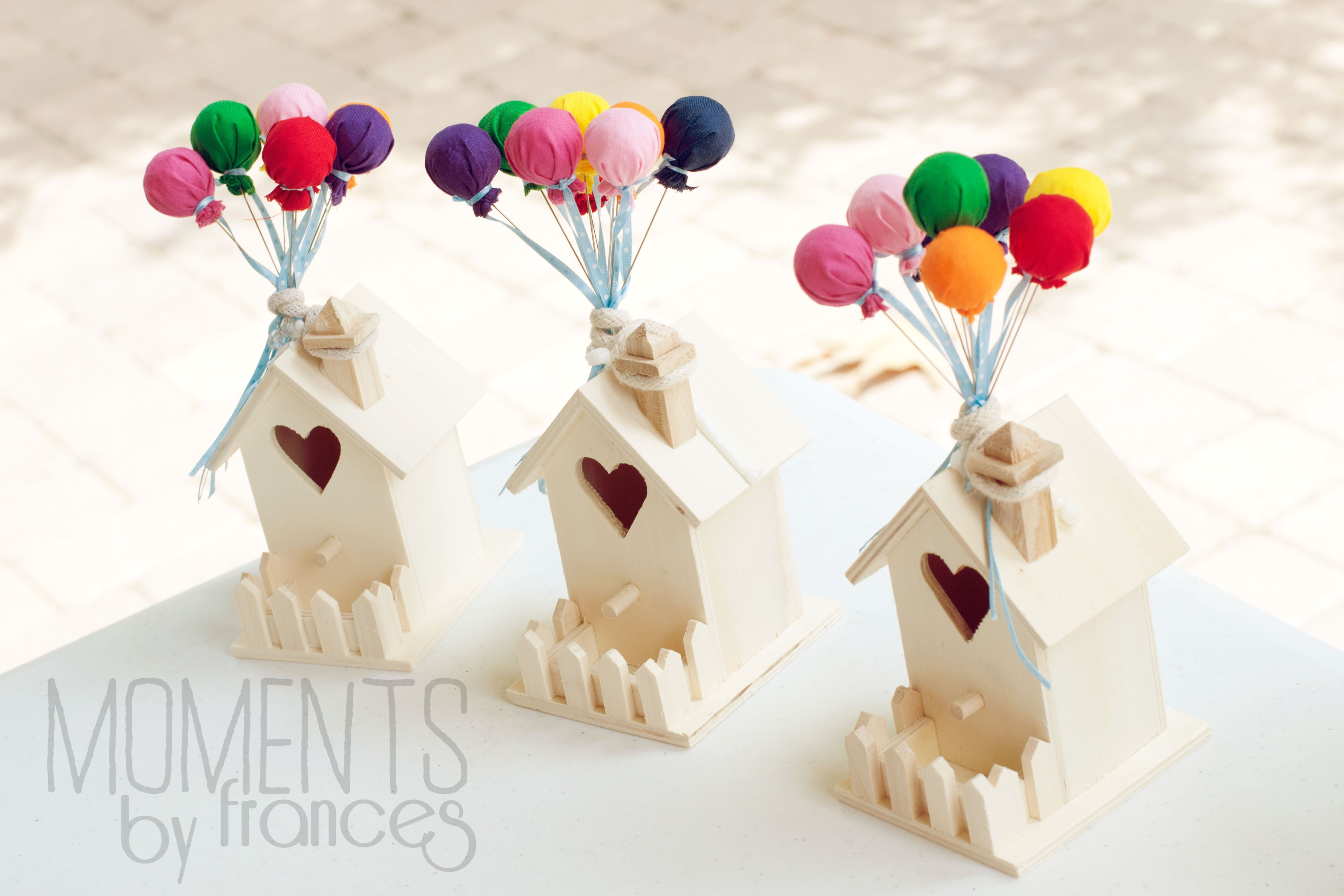 Up themed birthday party birdhouse decorations