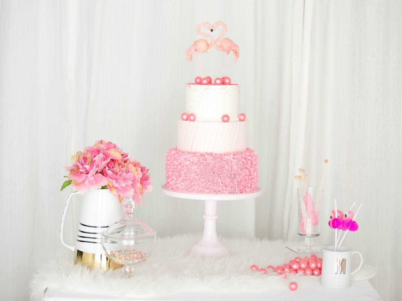 Chá de panela: decoração com o tema flamingo | Flamingo