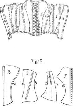 corset  cloth pattern  corset sewing pattern corset