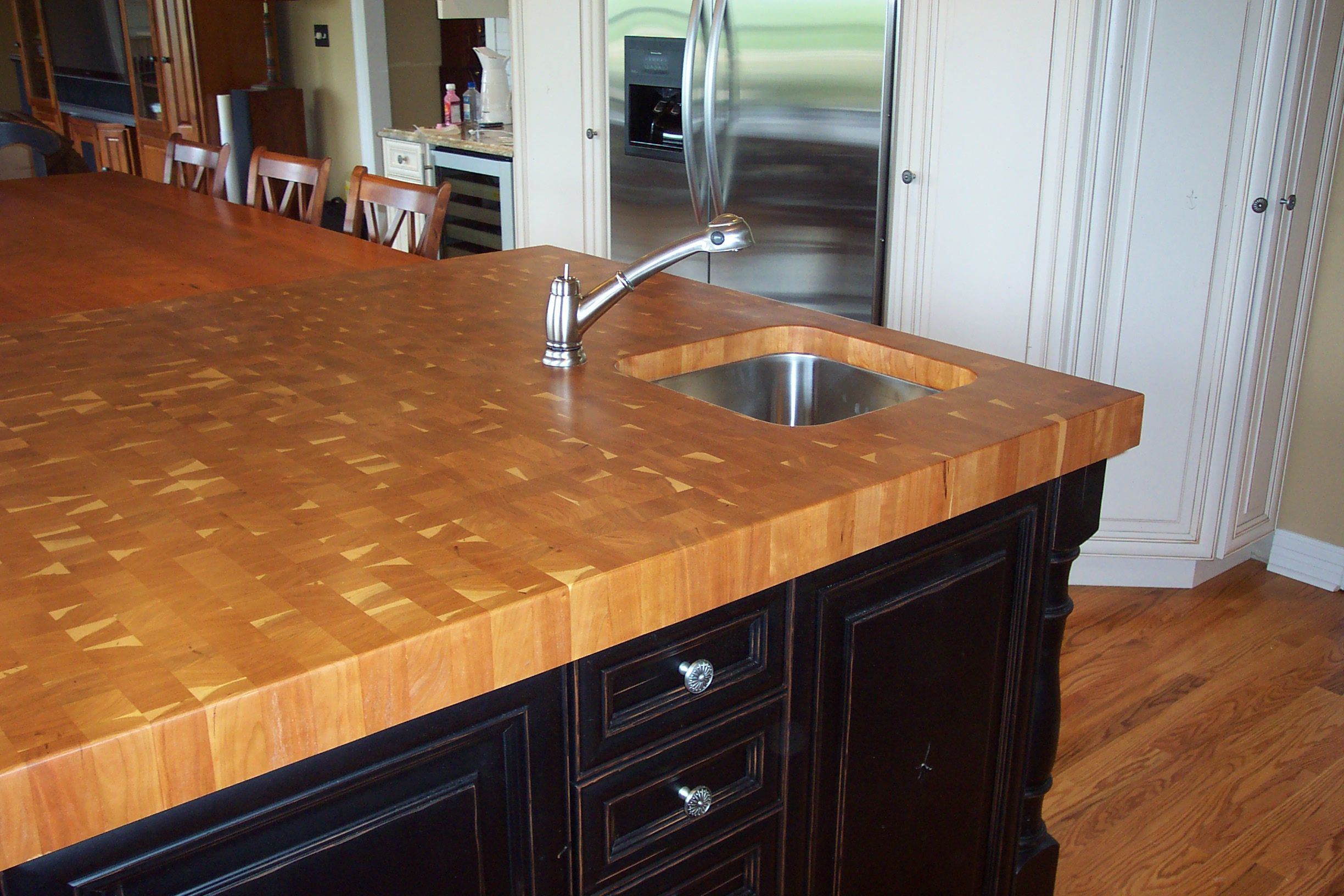 American Cherry End Grain Love The Color And A Sink Too