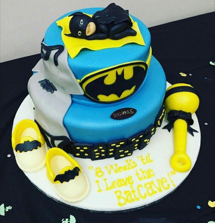 Batman Baby Shower Cake Cakes Bizcochos Pinterest Superhero