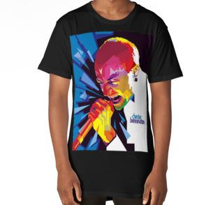 Long T-Shirt • Also buy this artwork on apparel, stickers, phone cases, and more.  #ripchesterbe #ripchesterbennington #rockstar #hipmetal #metal #pop #chesterbennington #music #musician #masterpiece #legend #allstar #linkinpark