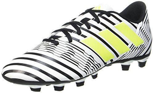 adidas Nemeziz 17.4 Fxg, Zapatillas de Fútbol para Hombre, Multicolor (Ftwr  White/Solar Yellow/Core Black), 42 EU