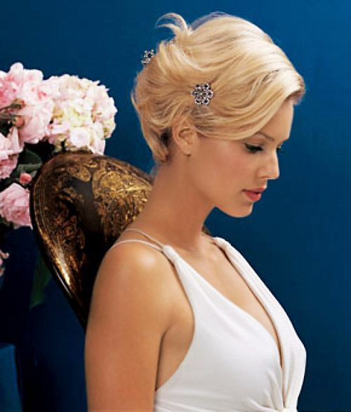 Wedding Updos For Short Hair Markandscott