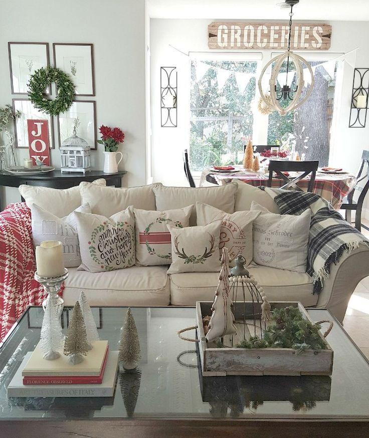 75 farmohouse christmas living room decoration ideas christmas living rooms living rooms and decoration