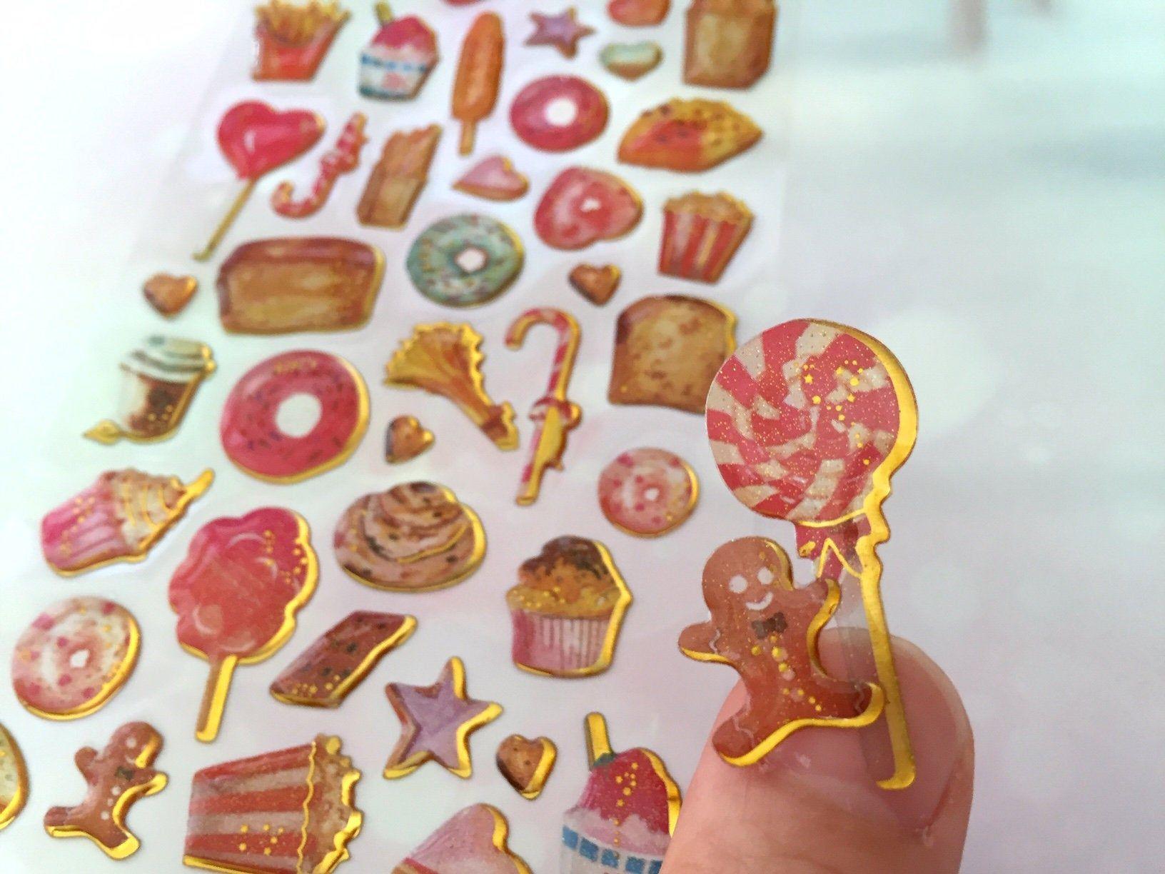baking theme sticker cupcake donut Birthday cake