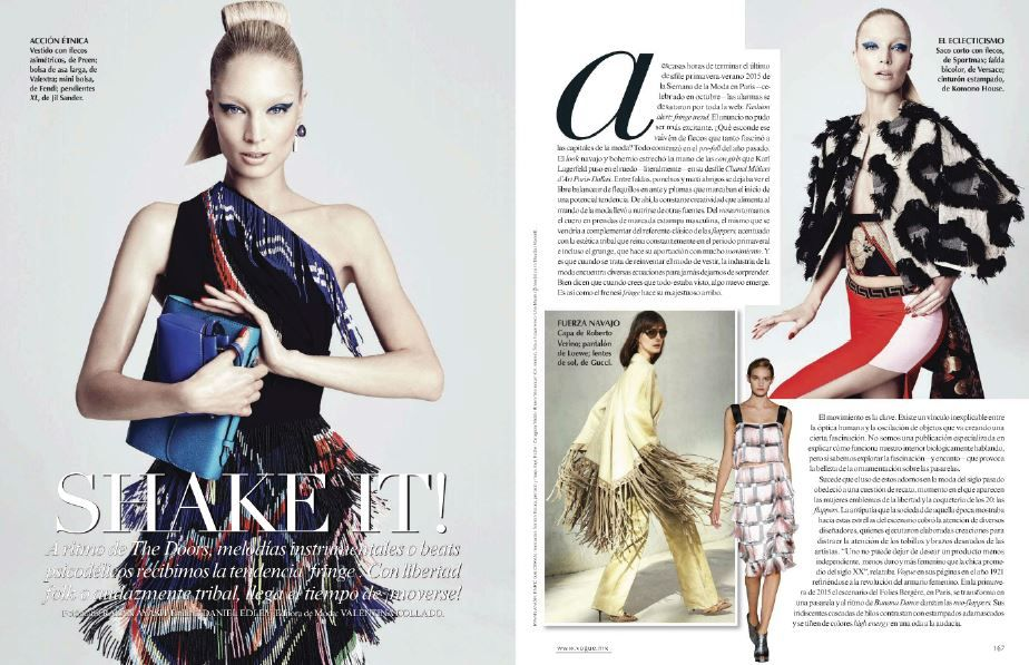 SS15 dress in Vogue Mexico