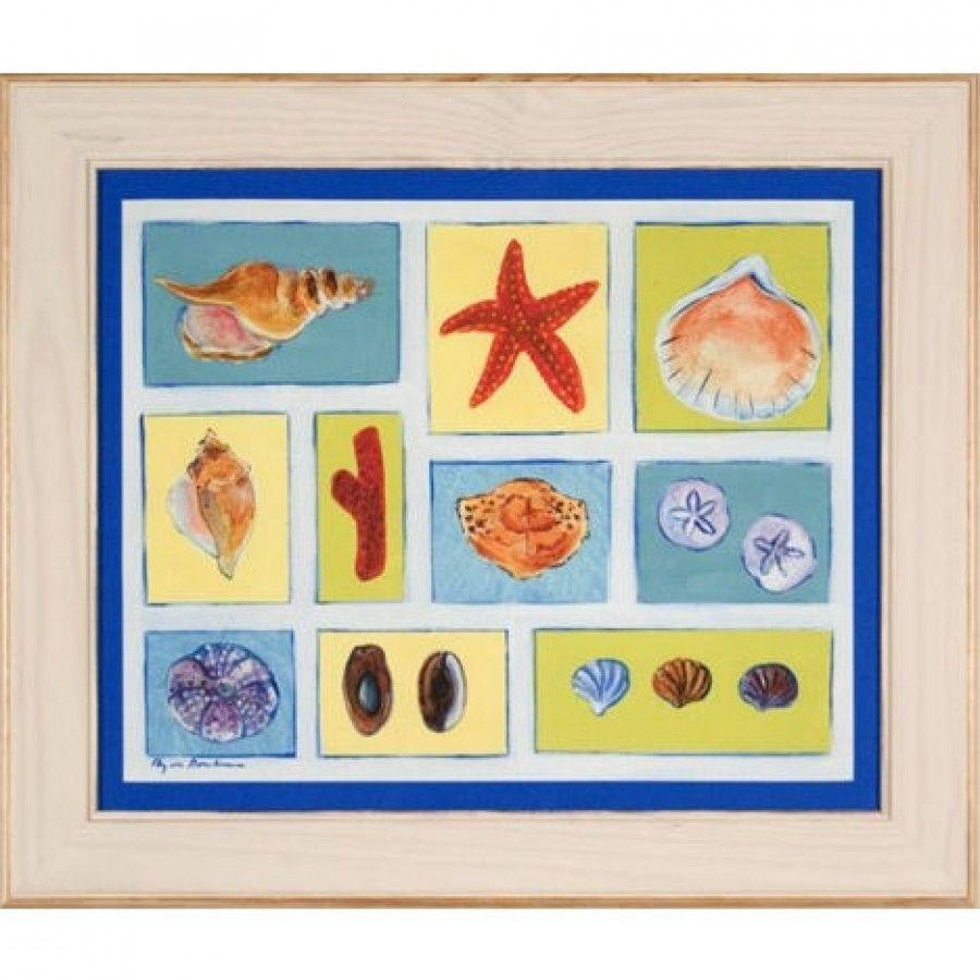 Galleries Shadowbox Shells on Canvas Framed Print - HPH17