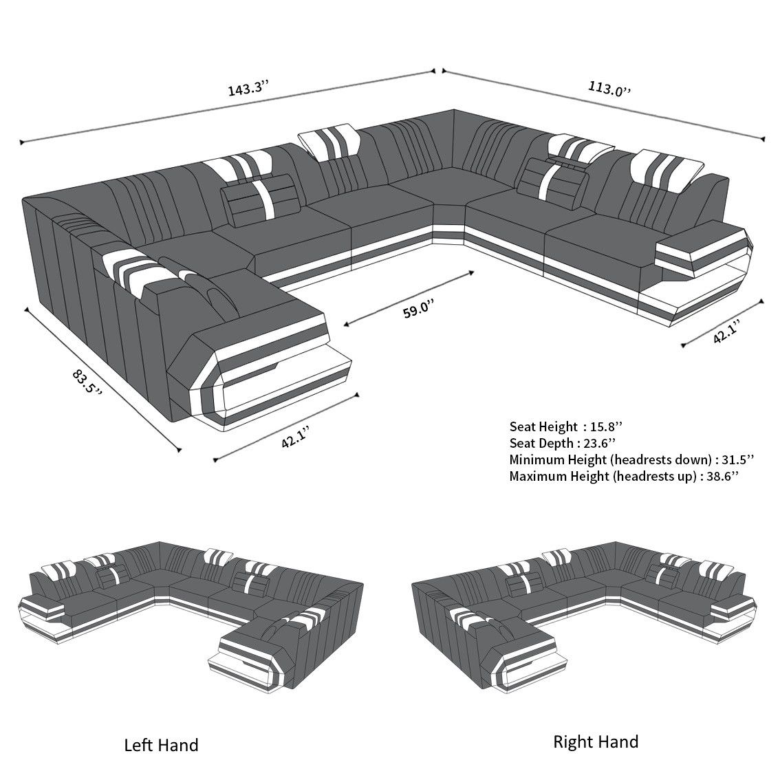 Luxury Sectional Sofa San Antonio U Shape U Shaped Sofa U Shaped Sectional Sofa U Shaped Sectional