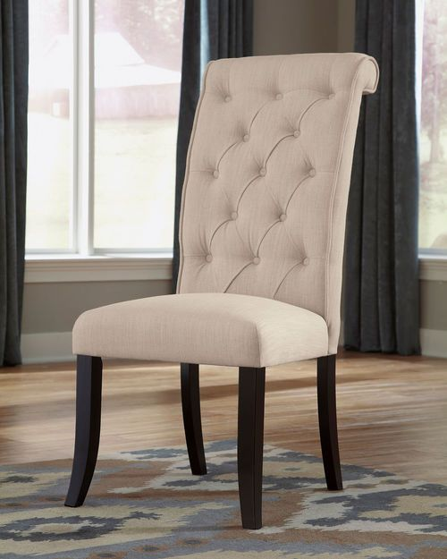 Ashley Tripton Linen Dining Upholstered Side Chair (2/CN) in 2018