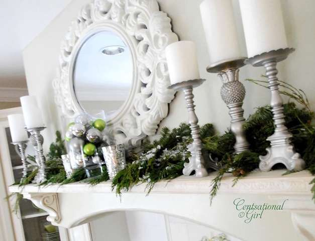 cg kitchen holiday mantel Christmas decor and stuff Pinterest