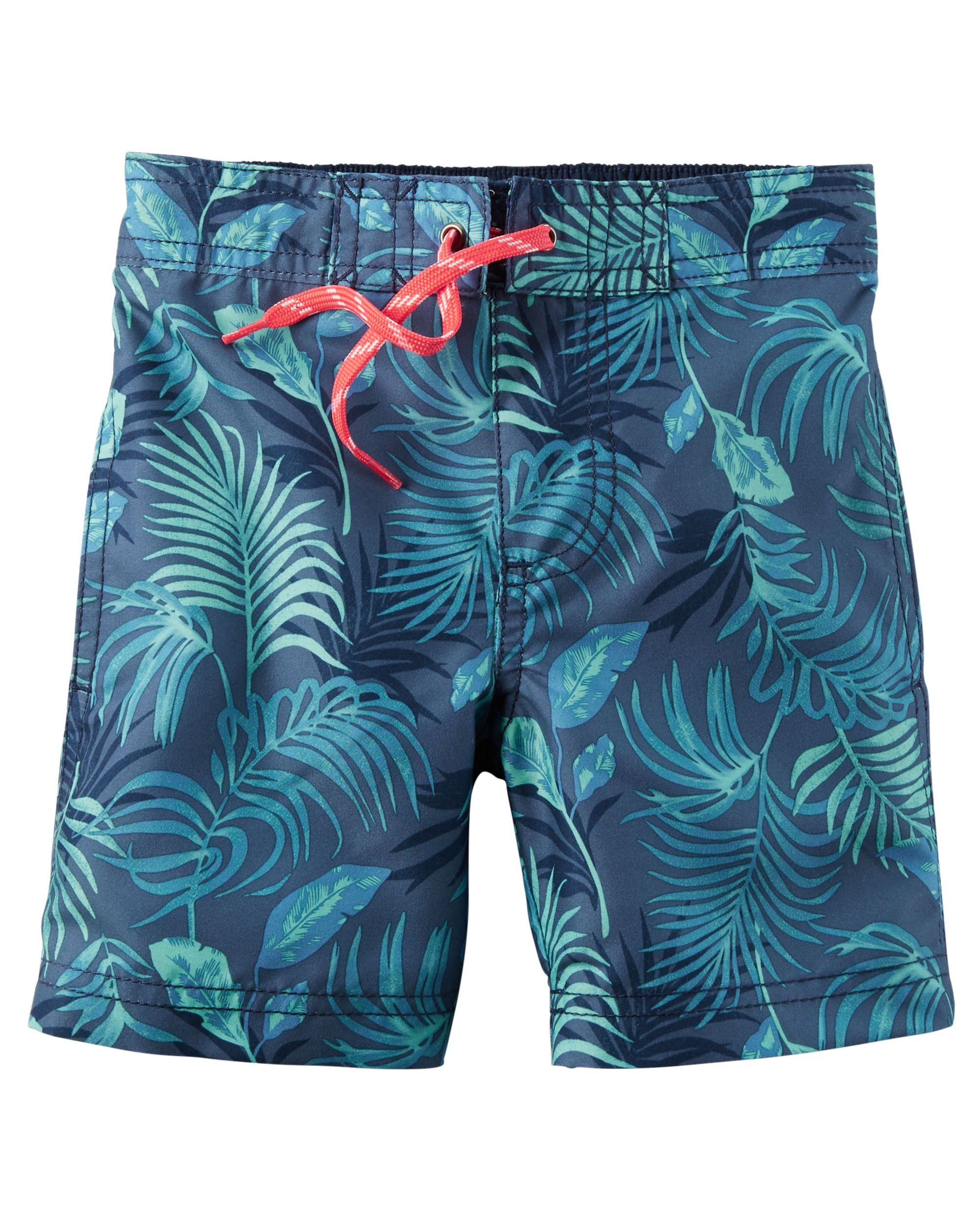 87c17863d6 Toddler Boy Tropical Print Swim Trunks | Carter's OshKosh Canada ...