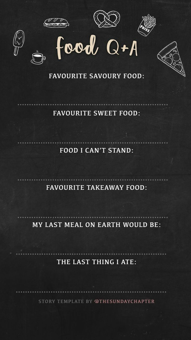 Food Q & A. Template from The Sunday Chapter. | Social Media | Pinterest
