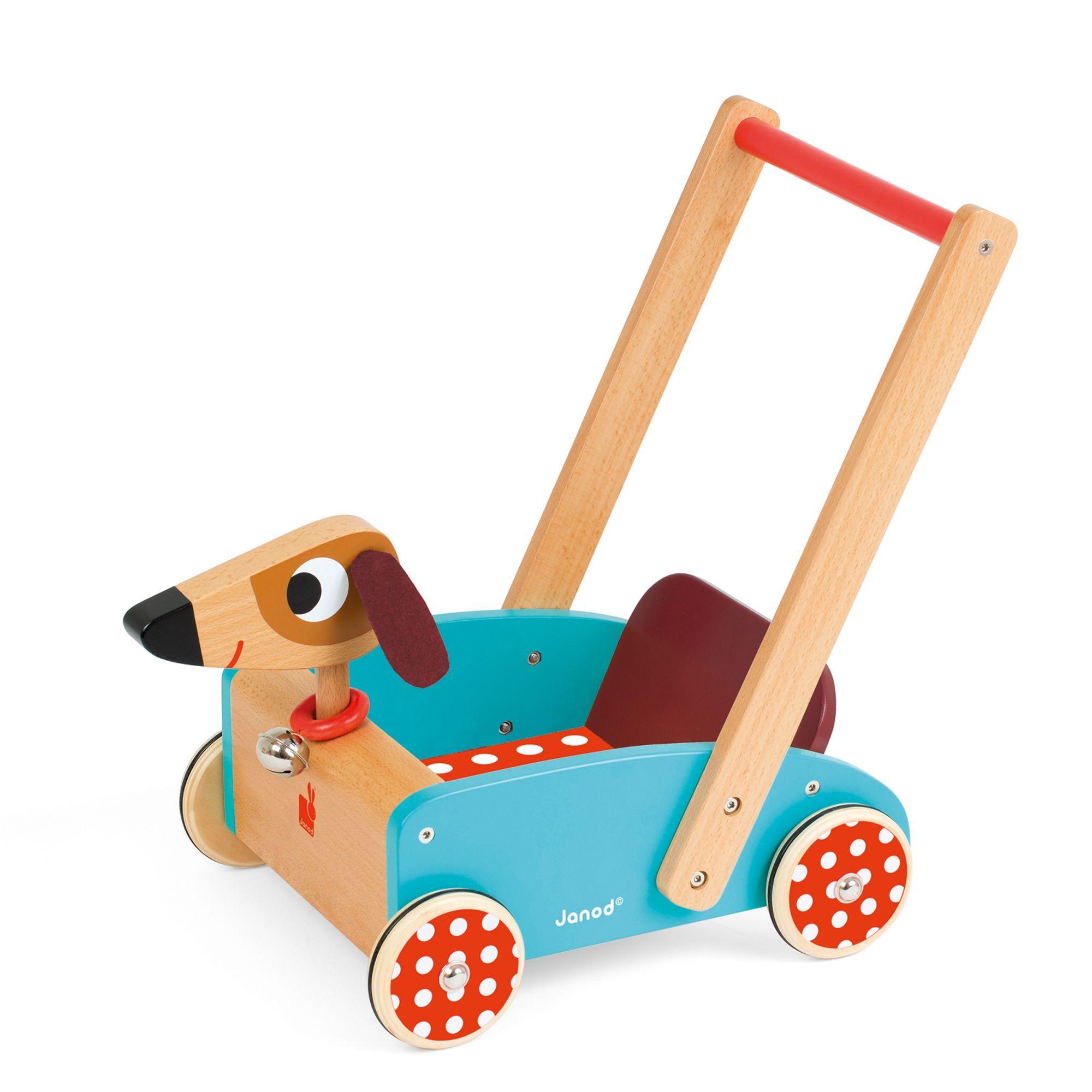 Chariot  pousser pour enfant vintage Crazy doggy Jeux d