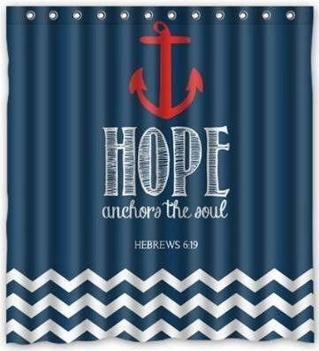 New Lovely Navy Chevron Hope Anchor The Soul Hebrews 6 19
