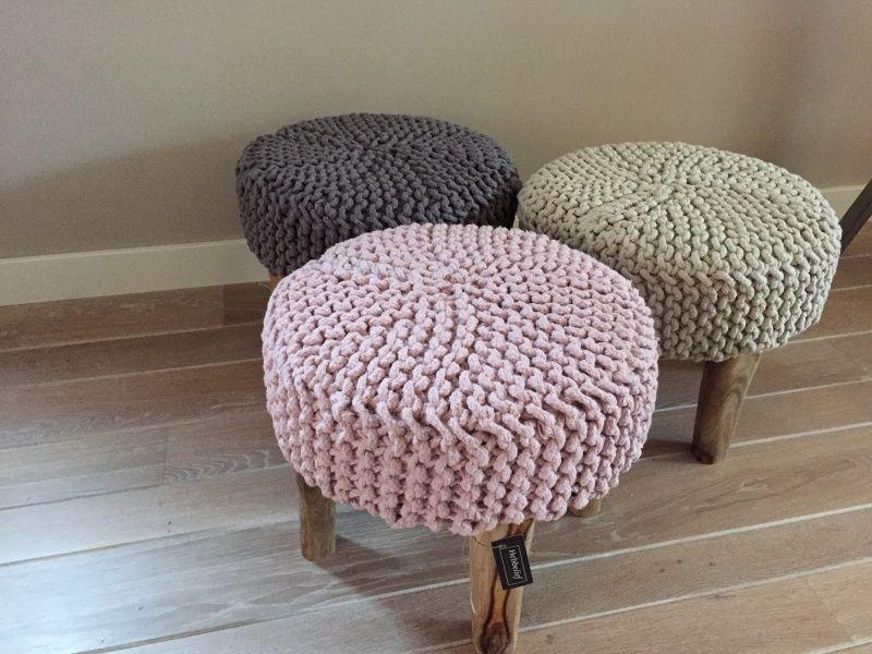 Krukjes | puffs, cadeiras e bancos de crochet e tricô | Pinterest ...