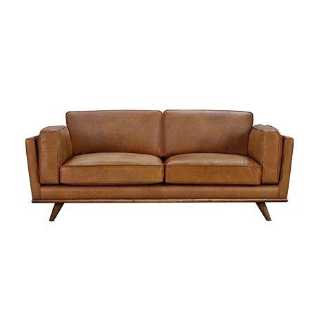 Brooklyn 3 Seater Sofa Freedom Blanket Dahlia 2.5 Seat Leather | Dahlia, Sofas And Room