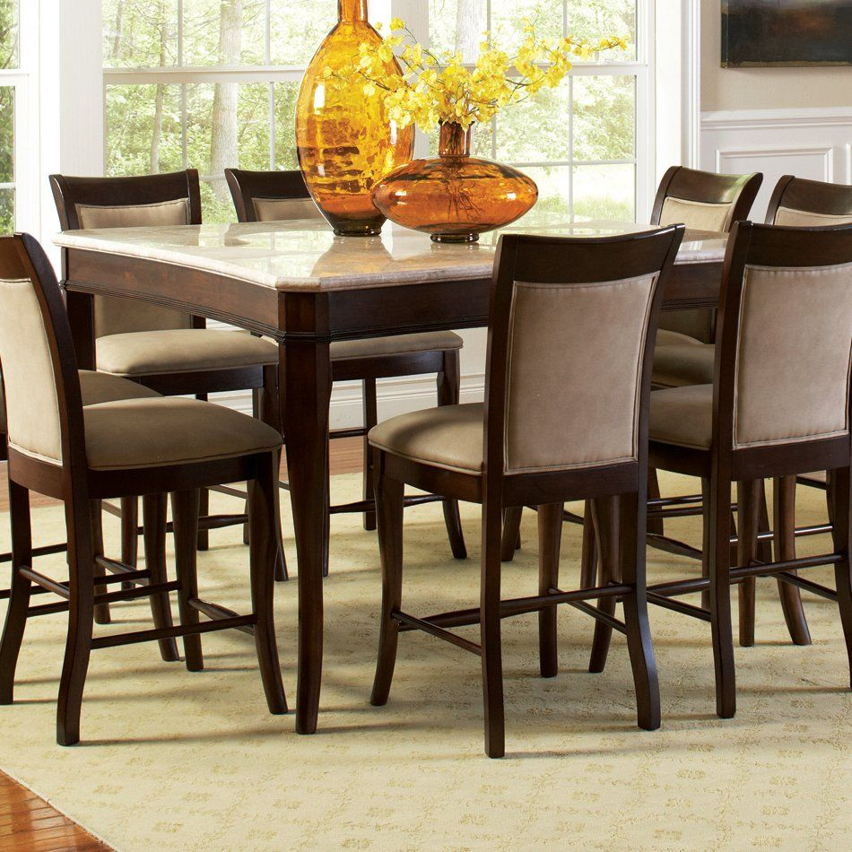 417629 5 Pc Set Includes Pub Table And 4 Stools Metropolitan Magnificent Pub Height Dining Room Table Decorating Inspiration