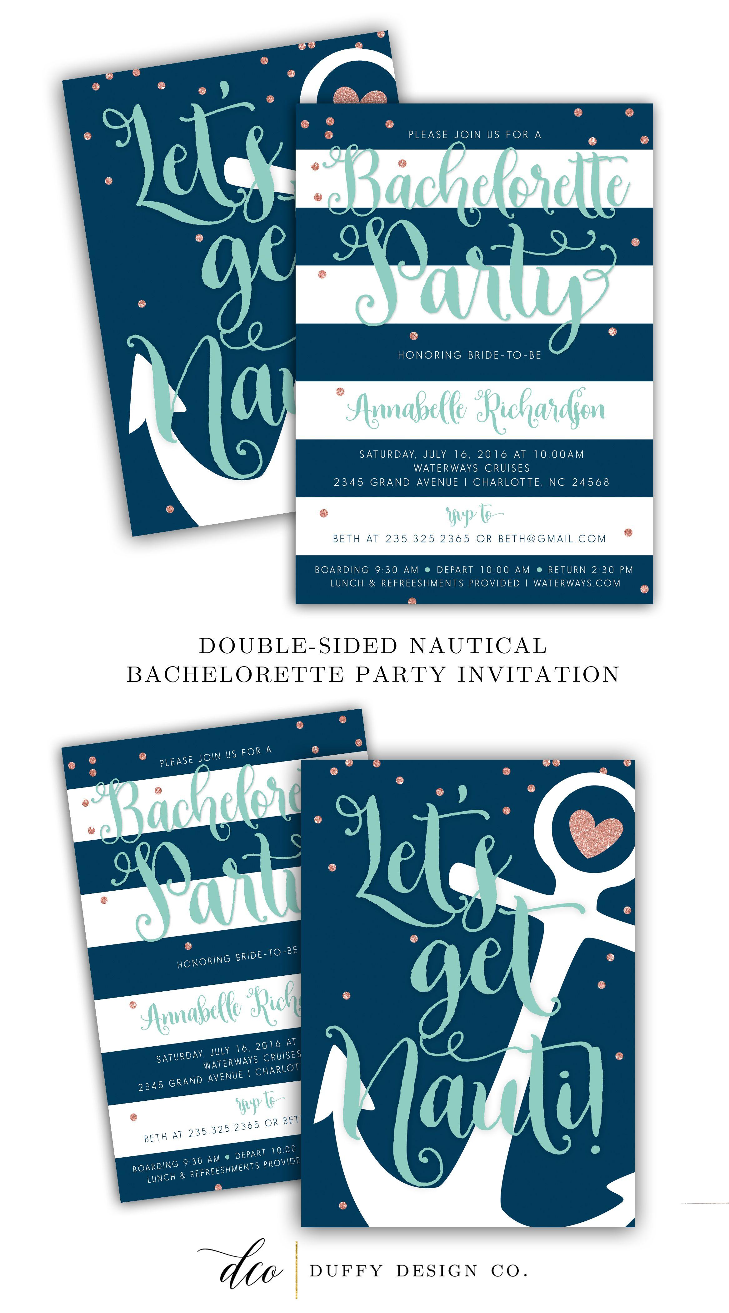 Personalized Bachelorette Invitations | Available at BOARDMAN ...