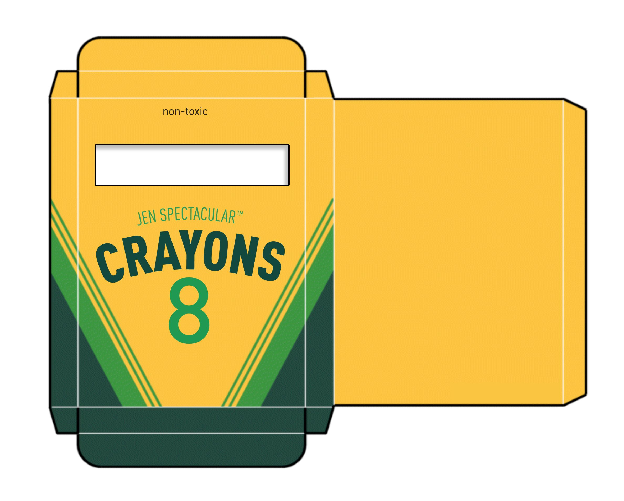 Crayon Box Template 1500 Free Paper Dolls At Arielle Gabriel S The International Doll Society For Pals Pinterest