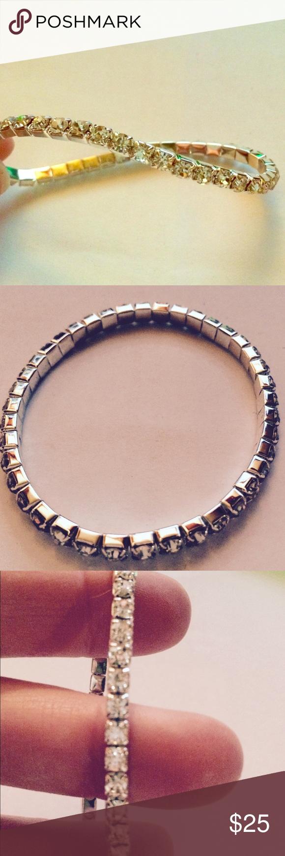 "6"" Swarovski elements stretch bracelet. Brand new 6"" stretch bracelet with Swarovski elements Jewelry Bracelets"