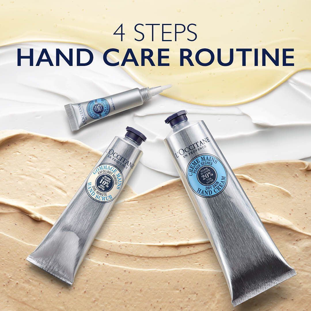 L Occitane Uk Ireland On Instagram Check Out Our 4 Steps Hand Care Routine Give Your Hands The Tlc That They Deserv In 2020 Hand Care Routine Hand Care L Occitane