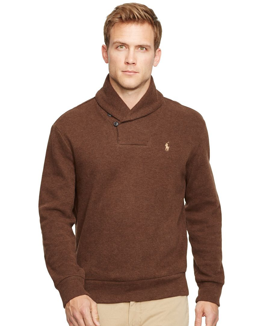 ee54192cad91fb Polo Ralph Lauren French-Rib Shawl Pullover Sweater - Sweaters - Men -  Macy s
