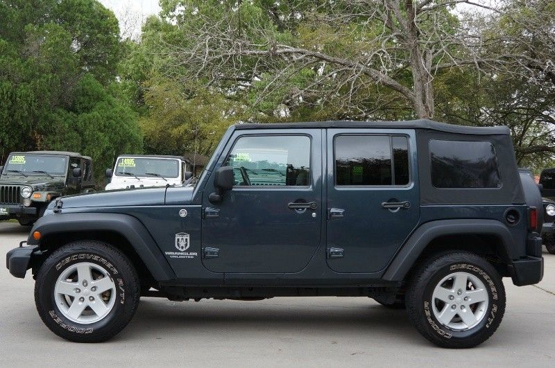 2008 steel blue jeep wrangler unlimited x 18 995 4x4 117k miles automatic soft top. Black Bedroom Furniture Sets. Home Design Ideas