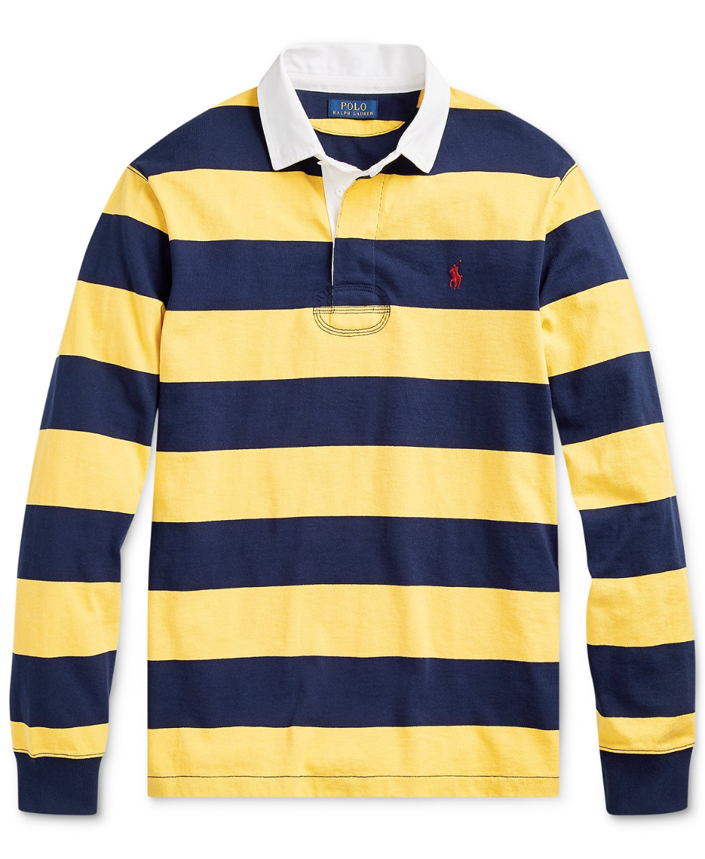 Polo Ralph Lauren Men S Classic Fit Rustic Rugby Polo Shirt
