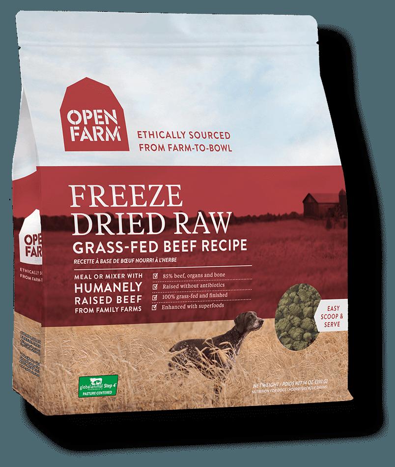 Open Farm Grain Free Grass Fed Beef Recipe Freeze Dried