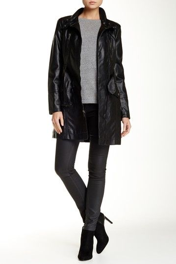 Kenneth Cole New York | Faux Leather Coat | Coats, Shops and Leather