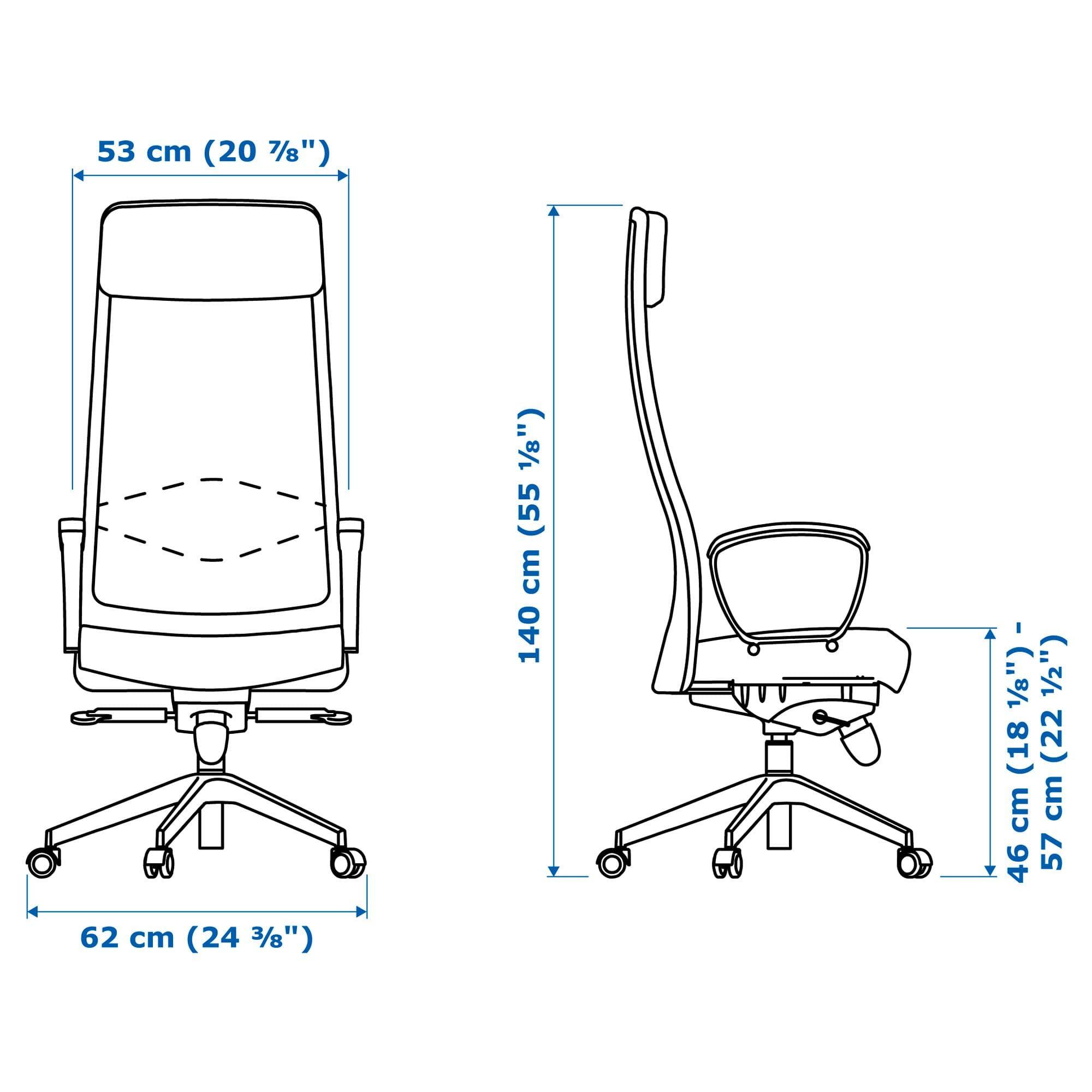 MARKUS Office chair Vissle dark grey | Ikea markus, Black