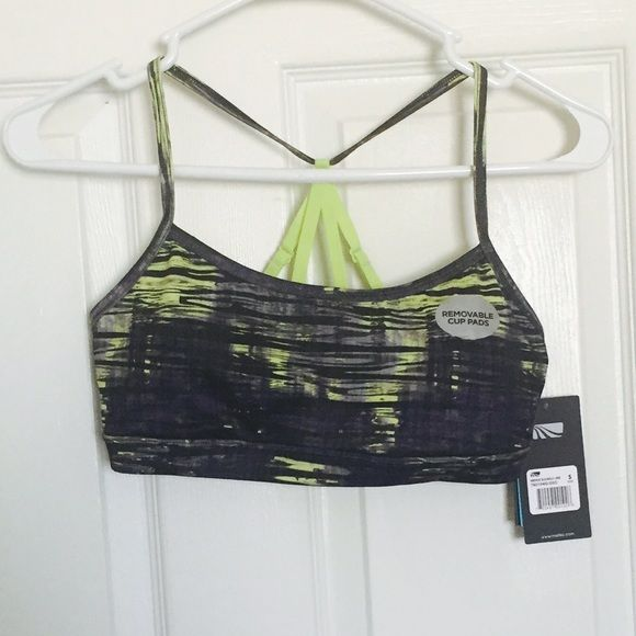 Marika Like Sports Bra with Straps Super cute lime and grey sports bra, has removable pads. New with tags. Marika Intimates & Sleepwear Bras