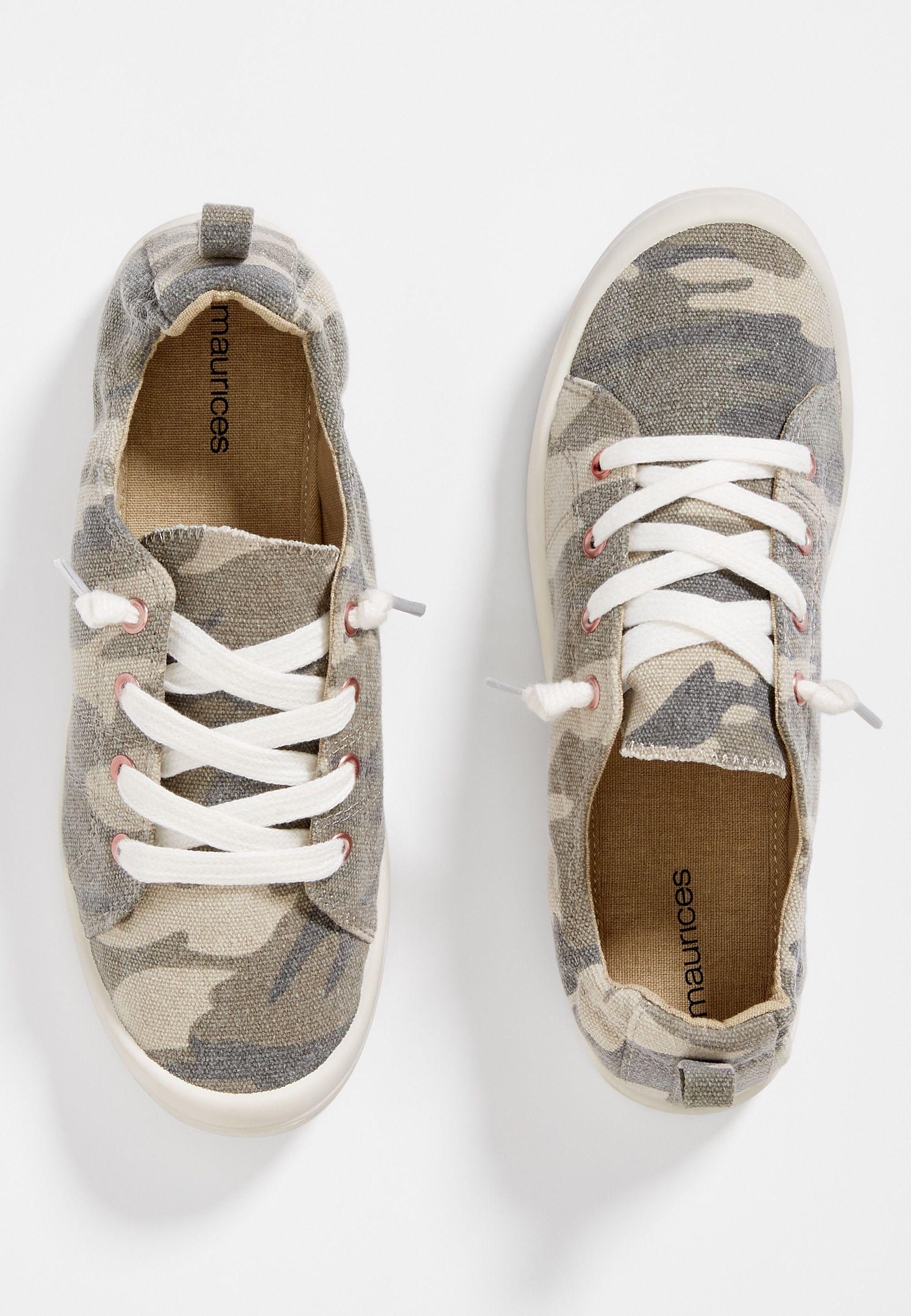 Mariah Camo Scrunch Back Sneaker in