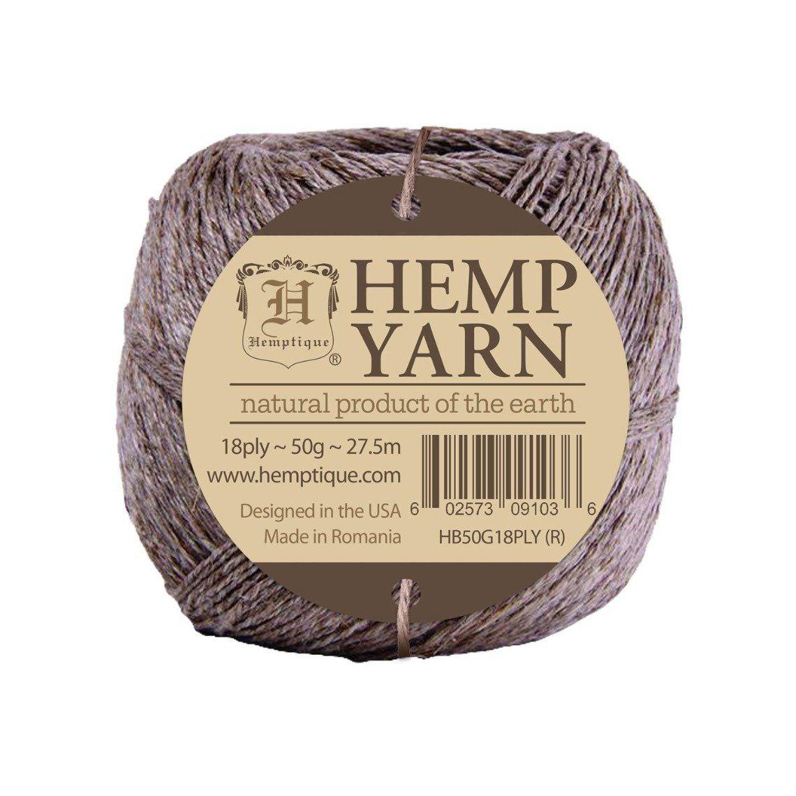 Hemp Yarn Unwaxed - Non Polished - 18ply