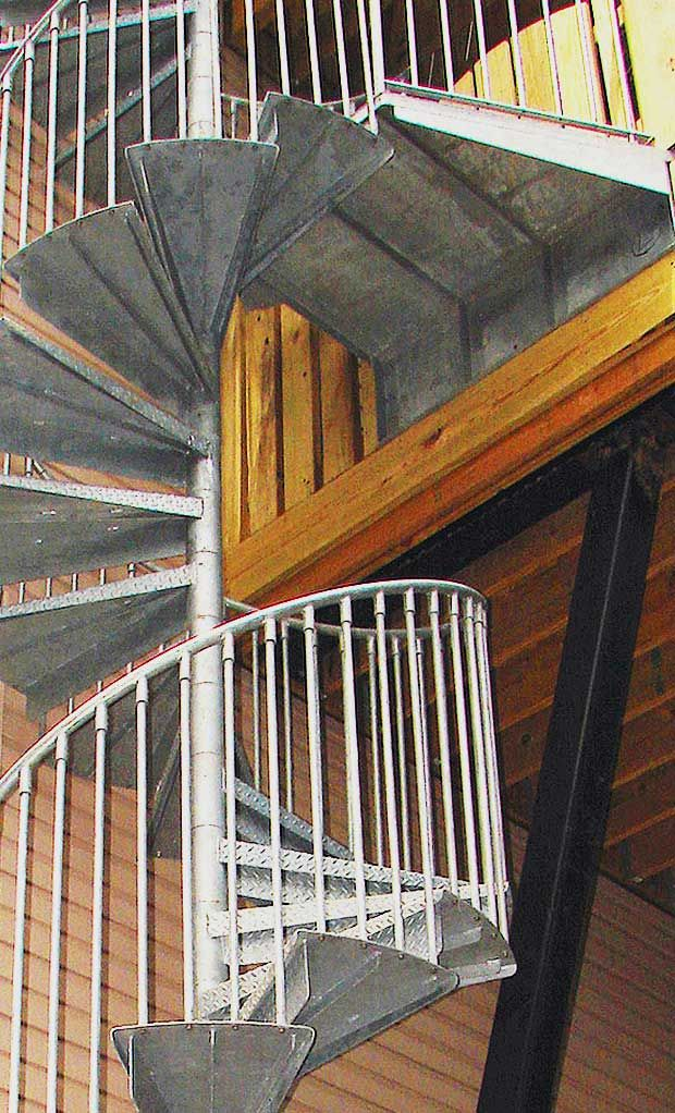 Best Reroute Galvanized 3 6 Steel Spiral Stair Kit Spiral 400 x 300