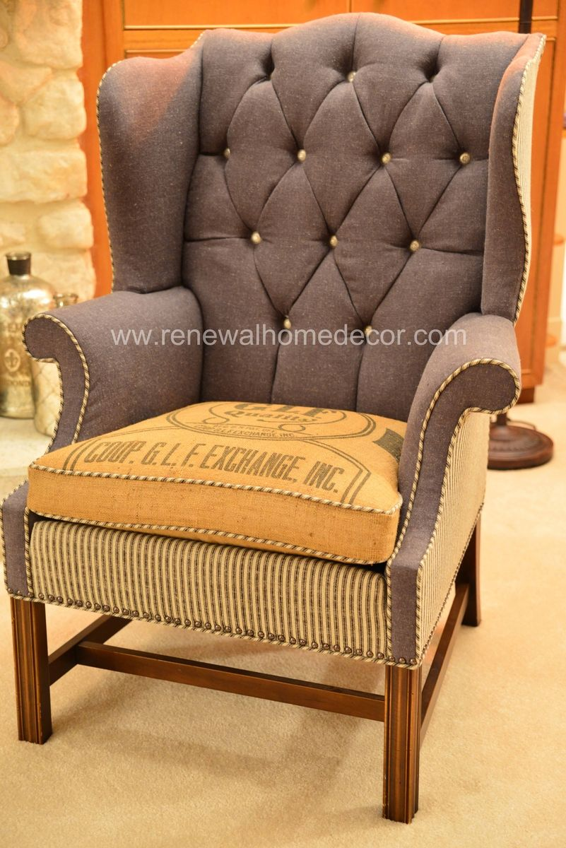 Custom wingback chairs wingback chair chair chair makeover