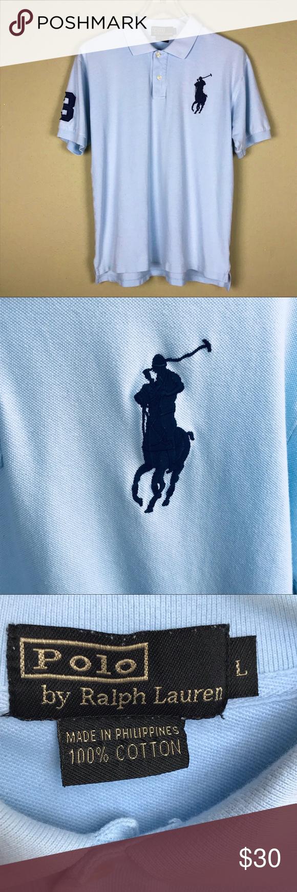 Polo By Ralph Lauren Big Pony Logo Shirt Polo Ralph Lauren Logo Shirts Polo